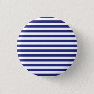 Badges Bouton bleu et blanc de rayures