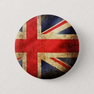 Badges Bouton britannique grunge de drapeau