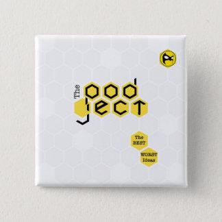 Badges Bouton carré couverture de Podject de 2 pouces
