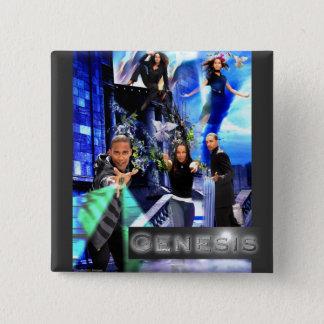 """Badges Bouton CARRÉ de """"genèse"""" - le logo de la Jordanie"""