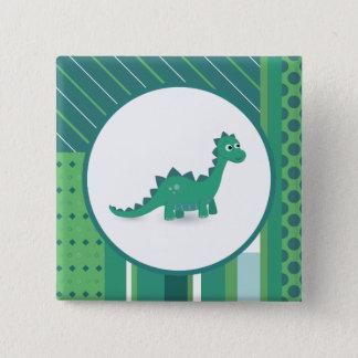 Badges Bouton carré de pinback de dinosaure