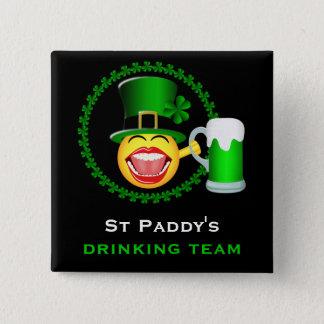 Badges Bouton carré potable d'équipe du jour de St
