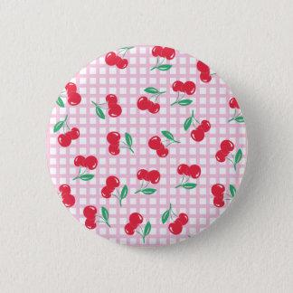 Badges Bouton Cherry rose vif