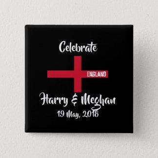 Badges Bouton commémoratif de mariage royal (carré)