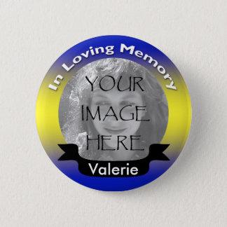 Badges Bouton commémoratif jaune et bleu de photo