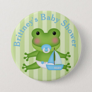 Badges Bouton customisé de baby shower de grenouille