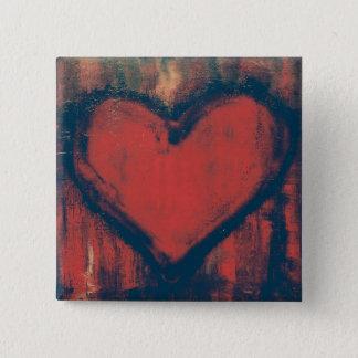 Badges Bouton d'art de coeur de graffiti