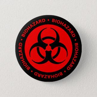 Badges Bouton d'avertissement de Biohazard rouge