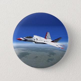Badges Bouton d'avion de combat de jet d'anges bleus de