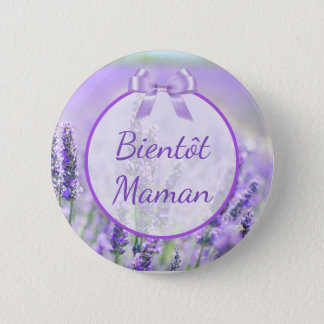 Badges Bouton de baby shower de Bientôt Maman