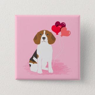 Badges Bouton de ballon d'amour de beagle - bouton