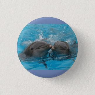 Badges Bouton de bleu de dauphins