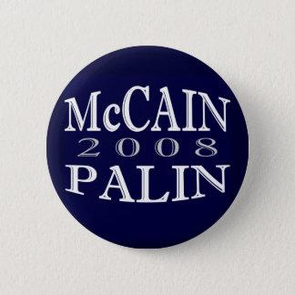 Badges Bouton de bleu de McCAIN PALIN 2008