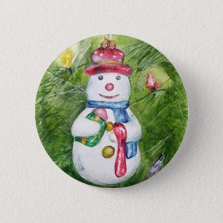 Badges Bouton de bonhomme de neige d'arbre de Noël