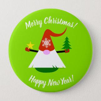 Badges Bouton de bonne année de Joyeux Noël de gnome