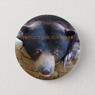 Badges Bouton de Bulan d'ours de Sun