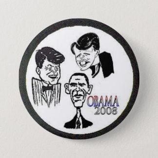 Badges Bouton de caricature de JFK/RFK/BHO