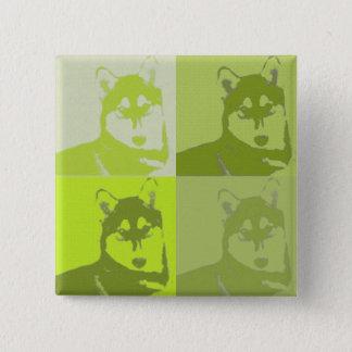 Badges Bouton de chien de traîneau de chaux