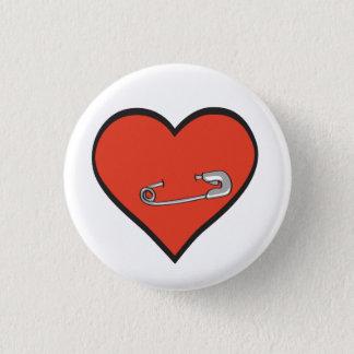 Badges bouton de coeur de goupille de sécurité
