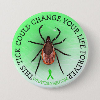 Badges Bouton de conscience de la maladie de Lyme de