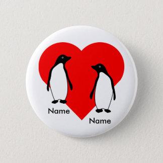 Badges Bouton de couples d'amour de pingouin