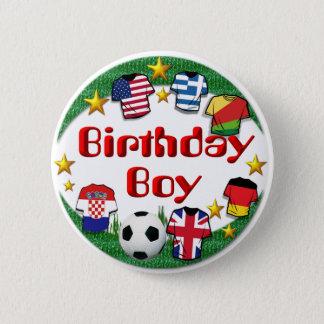 Badges Bouton de ~ de garçon d'anniversaire (le football)