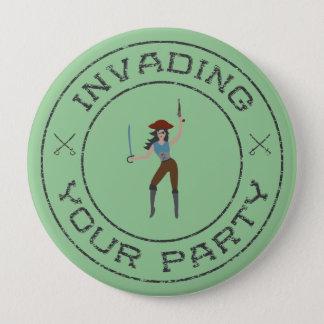 Badges Bouton de fille de pirate
