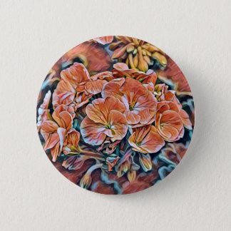 Badges Bouton de fleur avec la conception orange de fleur