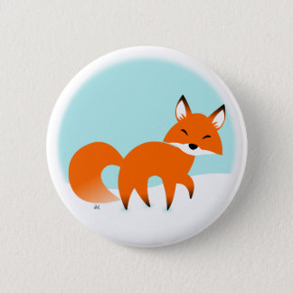 Badges Bouton de Fox rouge