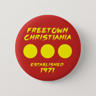 Badges Bouton de Freetown Christiania Danemark