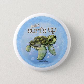 Badges Bouton de garçon de surfer de Seaturtle