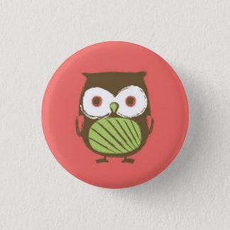 """Badges Bouton de hibou - 1,25"""" (rouge)"""