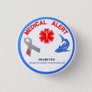 Badges Bouton de la maladie de dent de Charcot Marie