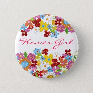 Badges Bouton de mariage de jardin de fleurs de ressort