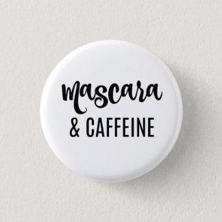 Badges Bouton de mascara et de caféine