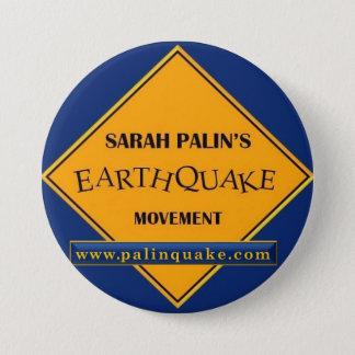 Badges Bouton de mouvement de tremblement de terre de