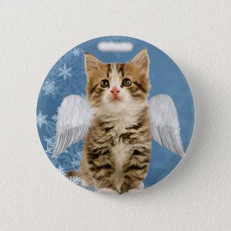 Badges Bouton de Noël de chaton d'ange