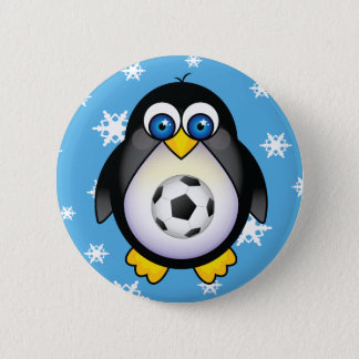 Badges Bouton de Noël du football de pingouin