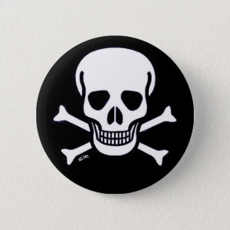 Badges Bouton de noir animal du crâne n