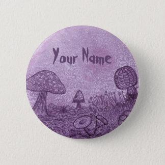Badges Bouton de nom de pré de champignons