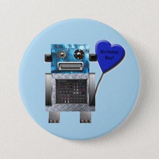 Badges Bouton de partie de robot de garçon d'anniversaire
