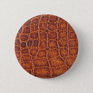 Badges Bouton de peau de crocodile