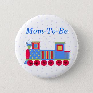 Badges Bouton de Pin de maman de baby shower de train de