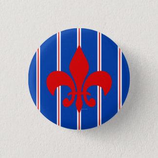 Badges Bouton de Red Fleur de Lis Striped