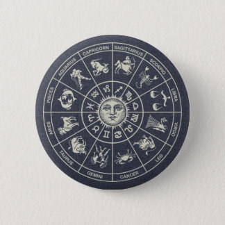 Badges Bouton de roue de zodiaque