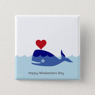 Badges Bouton de Saint-Valentin de baleine