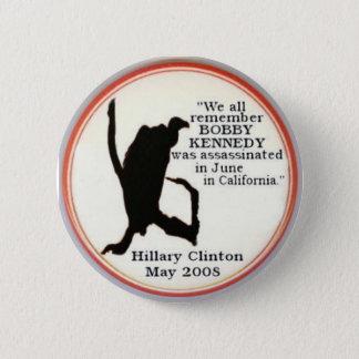 Badges Bouton de sillhouette de vautour de Hillary