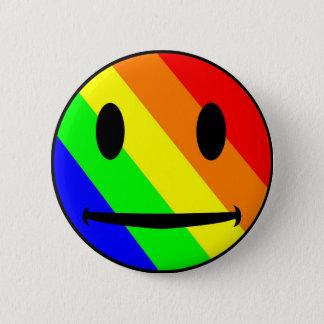 Badges Bouton de smiley d'arc-en-ciel