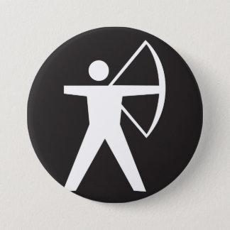 Badges Bouton de symbole de tir à l'arc