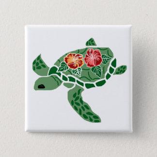 Badges Bouton de tortue de mer de fleur de ketmie